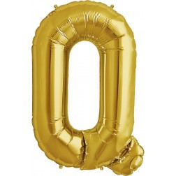 Folienballon Buchstabe Q gold 86cm
