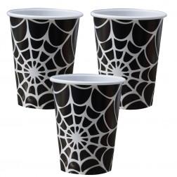 Pappbecher Spider Netz 8 Stück