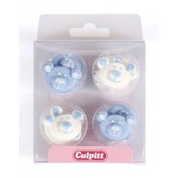 Zuckerdekor Baby Blau 12 Stück