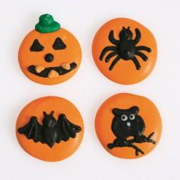 Zuckerdekor Orange Halloween 12 Stück