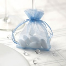 Tüte Organza Blau 10 Stück