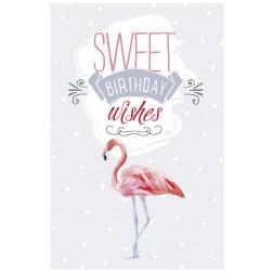 Karte Sweet Birthday wishes Flamingo