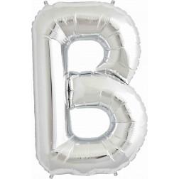 Air Folienballon Buchstabe B silber 41cm