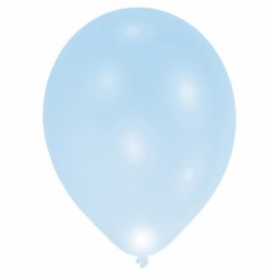 Luftballons Metallic Babyblau 10 Stück