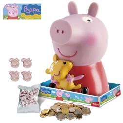Spardose Peppa Pig mit Süßigkeiten als auch Cake Topper 19cm