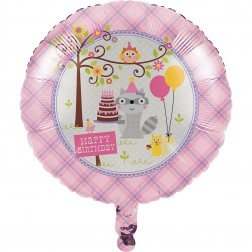 Folienballon Happy Woodland Girl 45cm