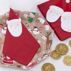 Santa Friends Servietten Topper Kit 12 Stück