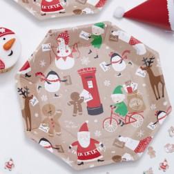 Santa and Friends Pappteller 8 Stück