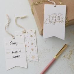 Geschenkanhänger Merry Christmas Gift Tags 8 Stück
