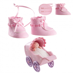 Tortendeko Taufe Girl Clay  Set