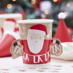 Pappbecher Santa and Friends 8 Stück