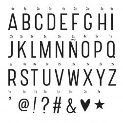Lightbox 85 Basic Letters & Symols Set