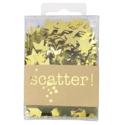 Konfetti Gold Star Scatter 25g