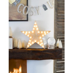 Wooden Star Light Stern mit LED Lichtern