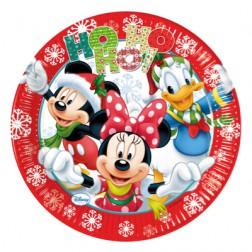 Pappteller Mickey Christmas Ho Ho Ho 8 Stück