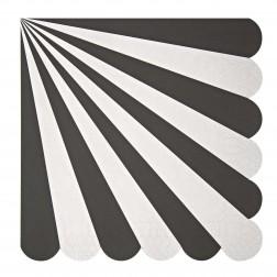 Servietten Black Stripe 20 Stück