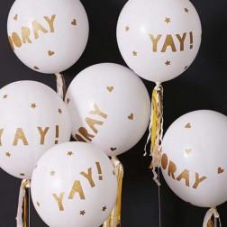 8 Runde Glitter Ballon Kit 45cm