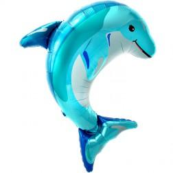 Folienballon Delfine blau 79cm