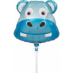 Air Folienballon Happy Hippo 36cm