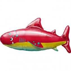 Folienballon Happy Shark 91cm