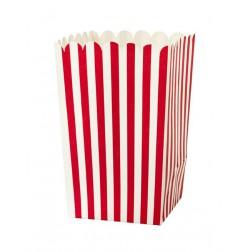 Popcorn Boxen Rot weiß gestreift 4 Stück