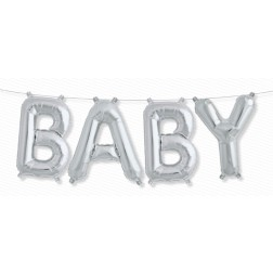 Air Folienballon Kit BABY silber