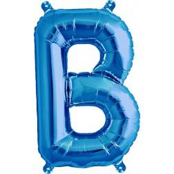 Air Folienballon Buchstabe B blau 41cm