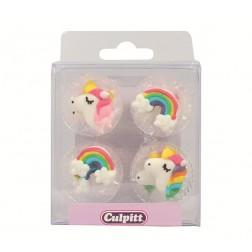Zuckerdekor Unicorn Rainbows 12 Stück