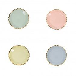 Canape mini Pappteler Pastel Party 8 Stück