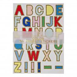 Alphabet Sticker von A bis Z bunt