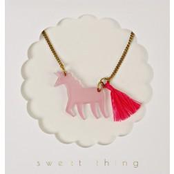 Unicorn Einhorn rosa Kette