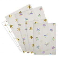 24 Tütten mit Stickers Stern gold silber