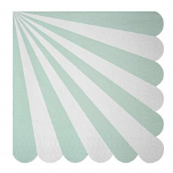 Servietten Toot Sweet Aqua Stripe 20 Stück