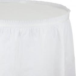 Tischrock weiß 73 x 426cm
