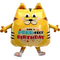 Folienballon Purrfect Birthday Cat 76сm