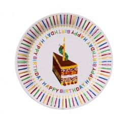 Pappteller Raupe Nimmersatt Happy Birthday 8 Stück
