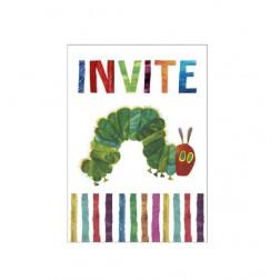 Einladungskarten Raupe Nimmersatt 8 Stück