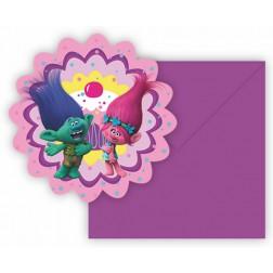 Trolls Einladungskarte 6 Stück