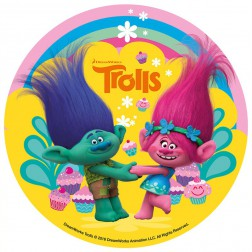 Tortenaufleger Trolls 16cm