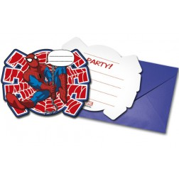 Spiderman Web Warrios Einladungskarten 6 Stück