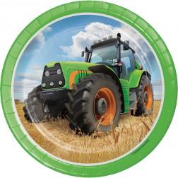 Pappteller klein Traktor 8 Stück
