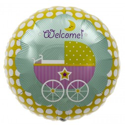 Folienballon WELCOME Baby 46cm