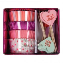 Cupcake Kit Herzen 72 teilig