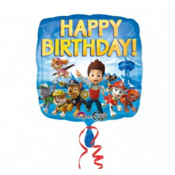 Folienballon Paw Patrol Happy Birthday 43cm