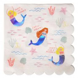 Servietten Meerjungfrau 16 Stück