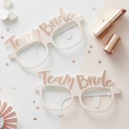 Brille Pink & Rose Team Bride 8 Stück