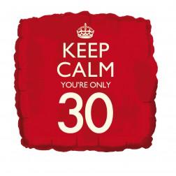 Folienballon Keep Calm you\'re only 30