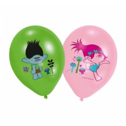 Luftballons Trolls 6 Stück