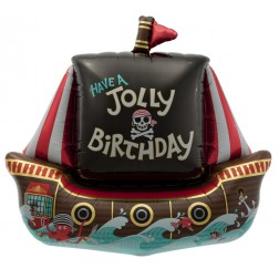 Folienballon Piraten Schiff Have a Jolly Birthday 91cm