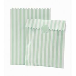 Papier Tüten mit Stickern mint 10 Stück